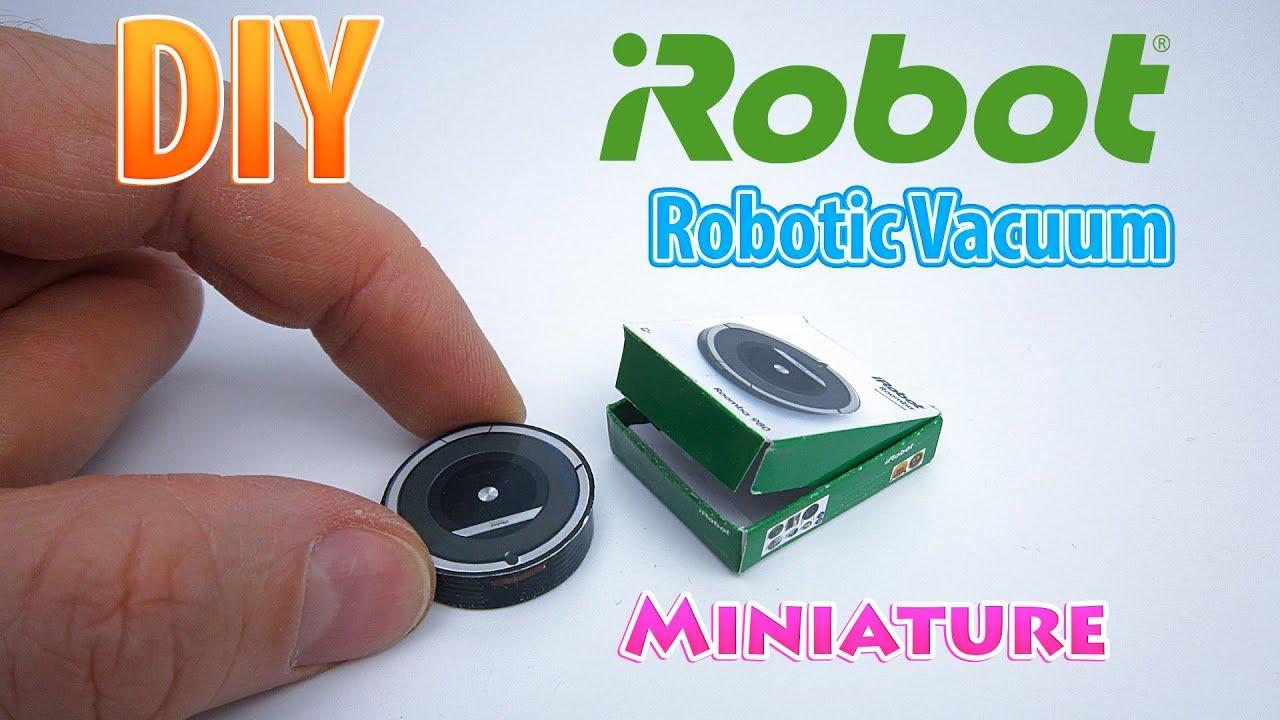 DIY Realistic Miniature iRobot Roomba Robot Vacuum ...