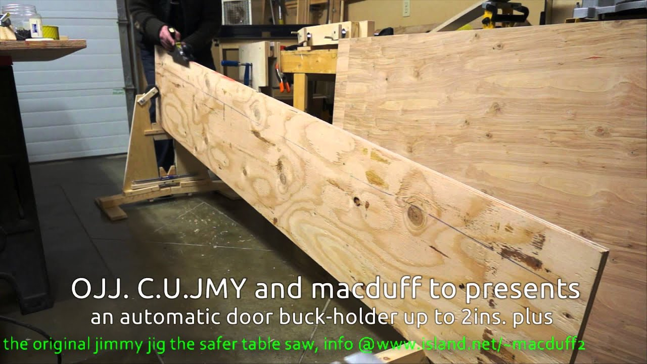 & How to buck-holder for doors.wmv automatic to 2ins plus - YouTube