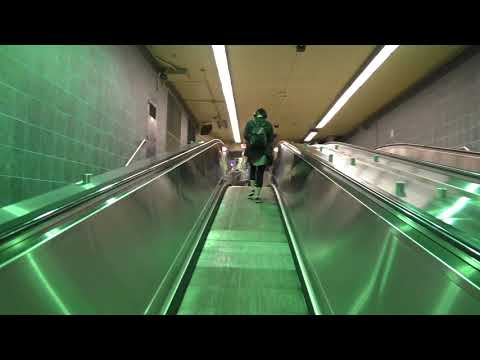 Travelator at Montreal's Sainte Catherine Metro
