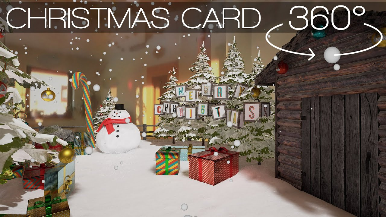 360 VR VIDEO] VR Christmas Card made with Unreal Engine 4. Merry ...