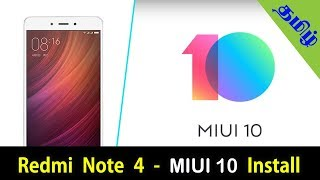 Redmi Note 4 - MIUI 10 Install   How to install miui10 in Redmi note4 in Tamil