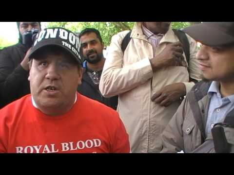 Muslim scholar  Mansur exposed by Jason Burns street preacher at Hyde park