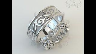Обручальные кольца в стиле