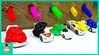 Download Bus Car Toy Change Learn Colors With Rainbow Paint for Kids Nursery Rhymes Song   MariAndToys