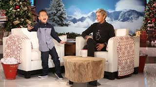 The little Bruno Mars fan is back to tell Ellen about life as a big...