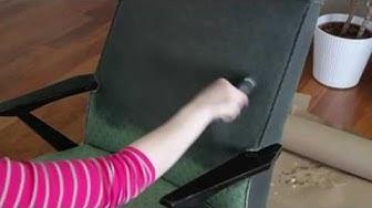 Nojatuolin kankaan maalaus | Tee se itse