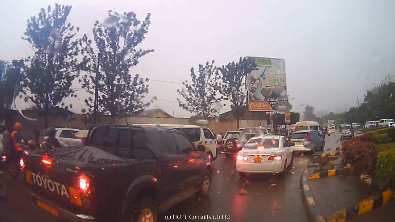 Download How it feels to drive in Kampala under rain