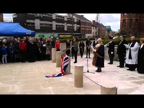 Private William Young's plaque unveiled at Preston Cenotaph