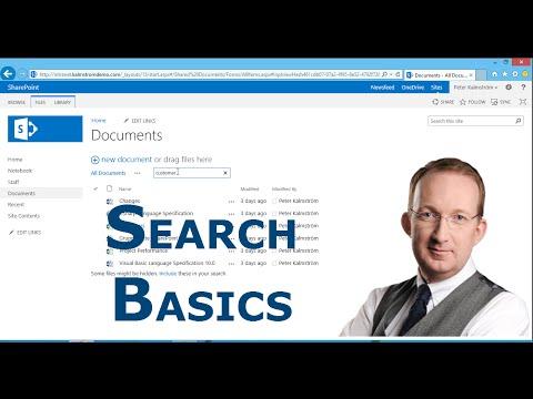 SharePoint 2013 Search Basics