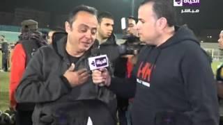 بكاء طارق يحيي بعد علمه بوفاة حمادة إمام: كان زي أبويا (فيديو)