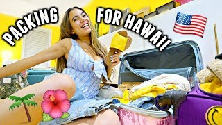 PACK WITH ME! Getting Ready for VACATION in Oahu, Hawaii!🌴✈️ (16 Hour Flight & Checking in)