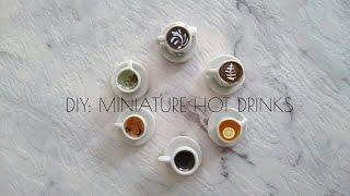 DIY Miniature hot drinks