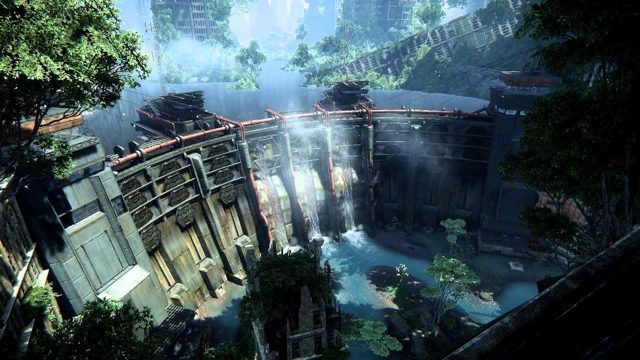 crysis 3 hydroelectric dam video desktop wallpaper - youtube