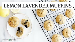 Gluten-Free Lemon Lavender Blueberry Muffins | Quick Healthy Breakfast Recipe | Limoneira