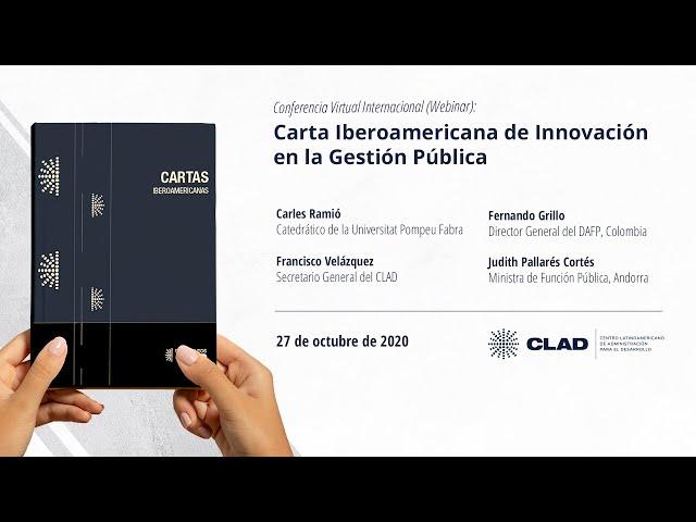#WebinarCLAD Carta Iberoamericana de Innovación en la Gestión Pública