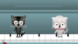 Happy Birthday Free Funny Ecards Animated Cats Dancing on a Piano Greeting E cards LadyBugEcar