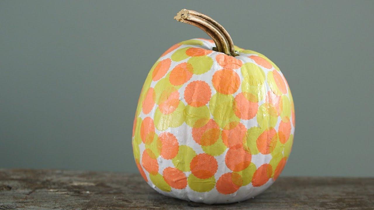 Decoupage Dots Pumpkin , Martha Stewart