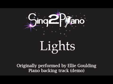 Lights - Ellie Goulding (Piano backing track) karaoke cover