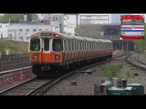 MBTA Orange Lines And Commuter Rail At Assembly