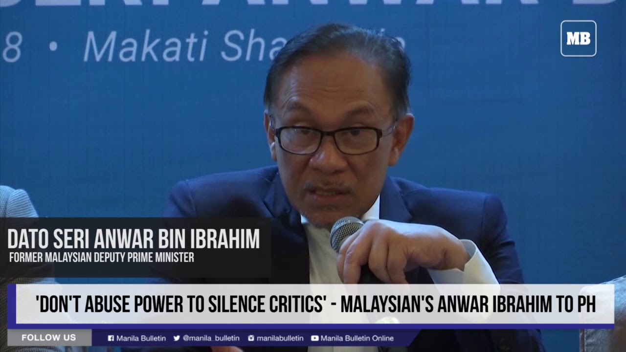 Don't abuse power to silence critics — Malaysian's Anwar Ibrahim to PH