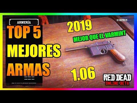 TOP 5 MEJORES ARMAS DE RED DEAD REDEMPTION 2 ONLINE   ACTUALIZACION 1.06 2019   ORACULUM thumbnail