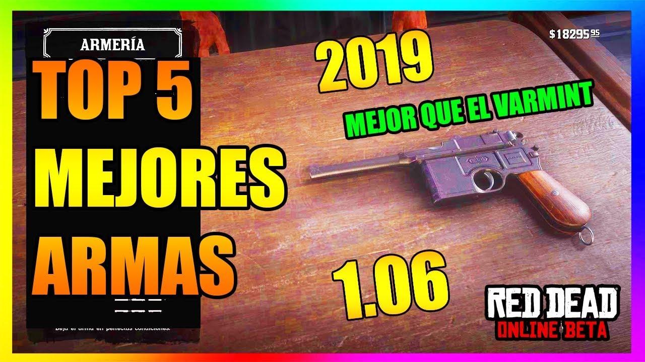 TOP 5 MEJORES ARMAS DE RED DEAD REDEMPTION 2 ONLINE | ACTUALIZACION 1.06 2019 | ORACULUM