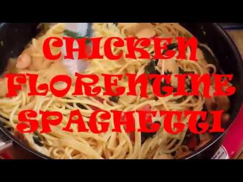 CHICKEN FLORENTINE SPAGHETTI, RICHARD IN THE KITCHEN
