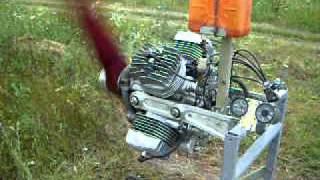 видео Бесшатунный двигатель Вуля.