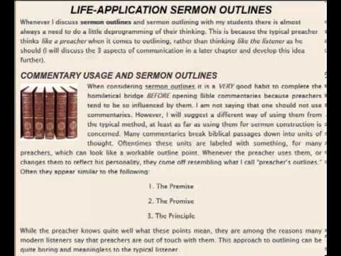 Sermon Outlines Made Easy - YouTube
