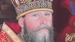 Portrait Miniature Of His Eminence Archbishop Kyrill By Miniaturist Elena V. Baranoff- Egg Tempera