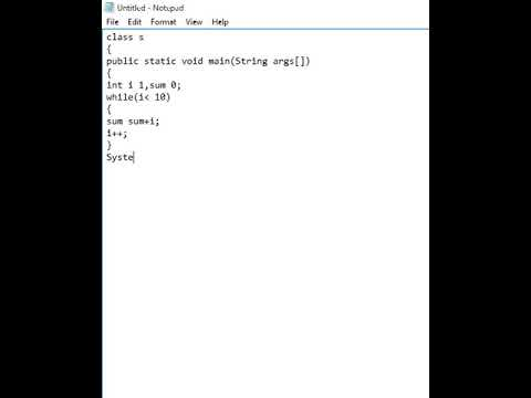 How to Print Sum of 1 to 10 Numbers in Java Using While Loop
