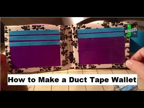 How To Make A Duct Tape Wallet Tutorial Youtube