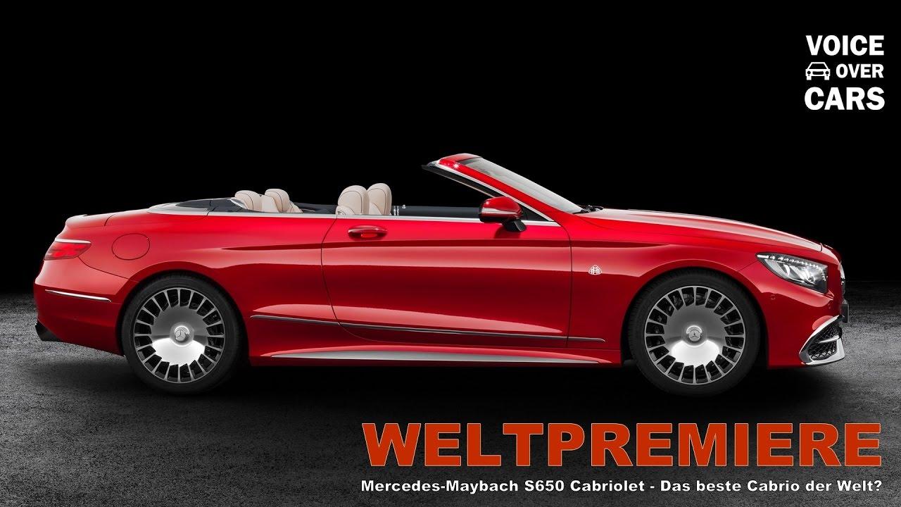 2017 mercedes maybach s650 cabriolet - das beste cabriolet der welt