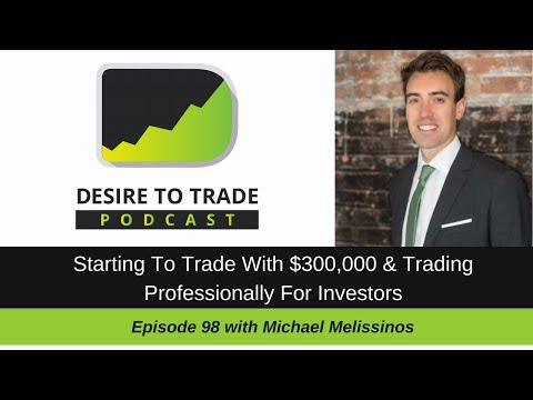 098: Starting To Trade Professionally With $300,000 - @Mmelissinos  | Trader Interview