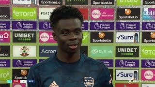 """Arteta makes it easy for me!"" Bukayo Saka reacts to Southampton 1-3 Arsenal"