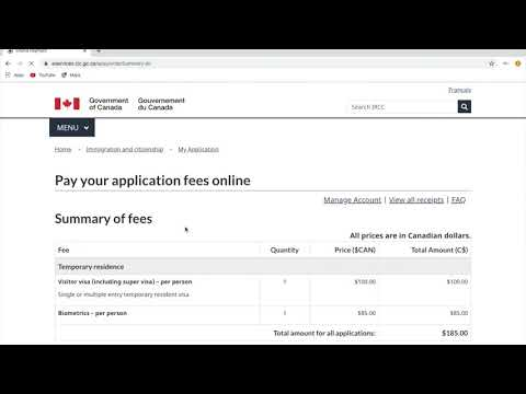 How To Pay Canada Visa Application And Biometric Fees Online