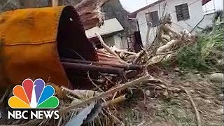 'Everything Gone:' Villager Surveys The Devastation Of Hurricane Maria In Dominica | NBC News