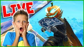New HALLOWHEAD Skin Gameplay w/ Mini Ninja, Fortnite Live Stream!!!