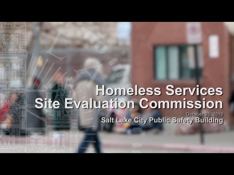Homeless Services Site Evaluation Commission Meeting - October 26, 2016