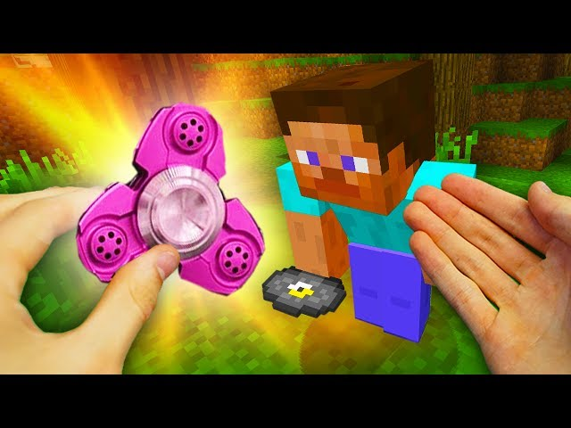 REALISTIC MINECRAFT - STEVE GETS A RARE FIDGET SPINNER! ⚡️