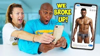 DAD Reacts To My MUMS CAMERA ROLL!! *WE BROKE UP*