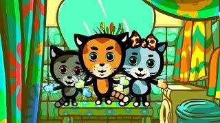 Песенки для котят - Котятки и перчатки | Считалочки - Три котенка | Мультик для малышей