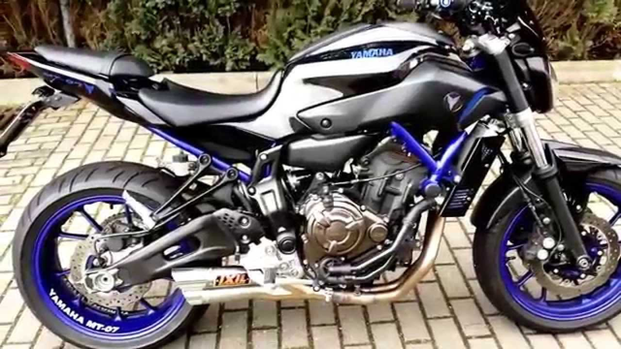 yamaha mt 07 race blu black ixil ermax youtube. Black Bedroom Furniture Sets. Home Design Ideas