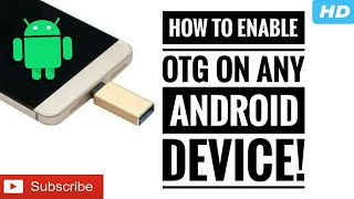 how to get otg access on any android device root required