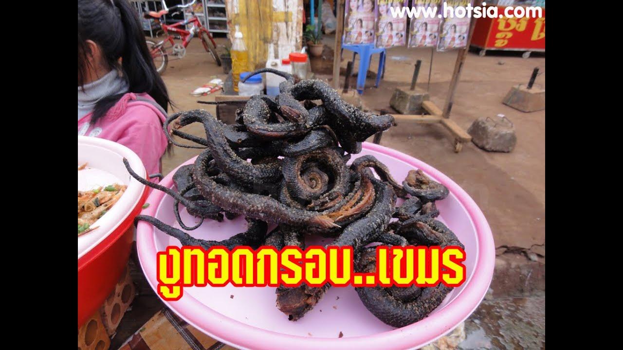 กินงูทอดเขมร Eat snake