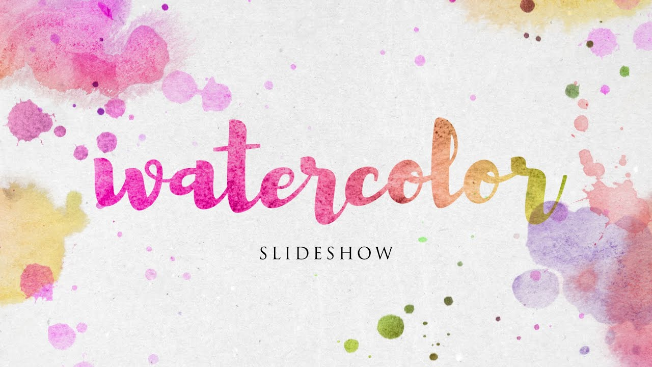 Watercolor Slideshow After Effects Template