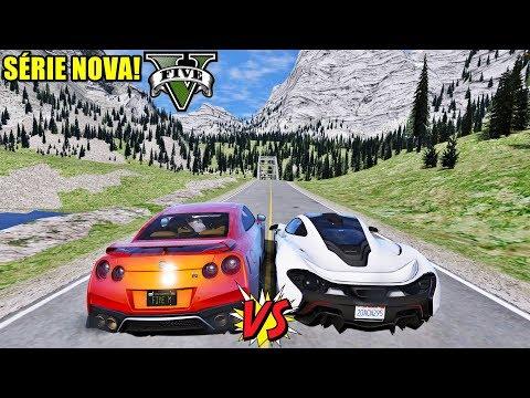Forza Horizon 4 + GTA V Online = Racha INSANO de Nissan GT-R VS McLaren P1 thumbnail