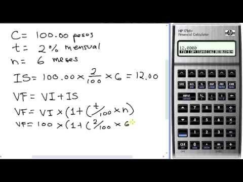 Formula de Interes Simple Calculadora HP