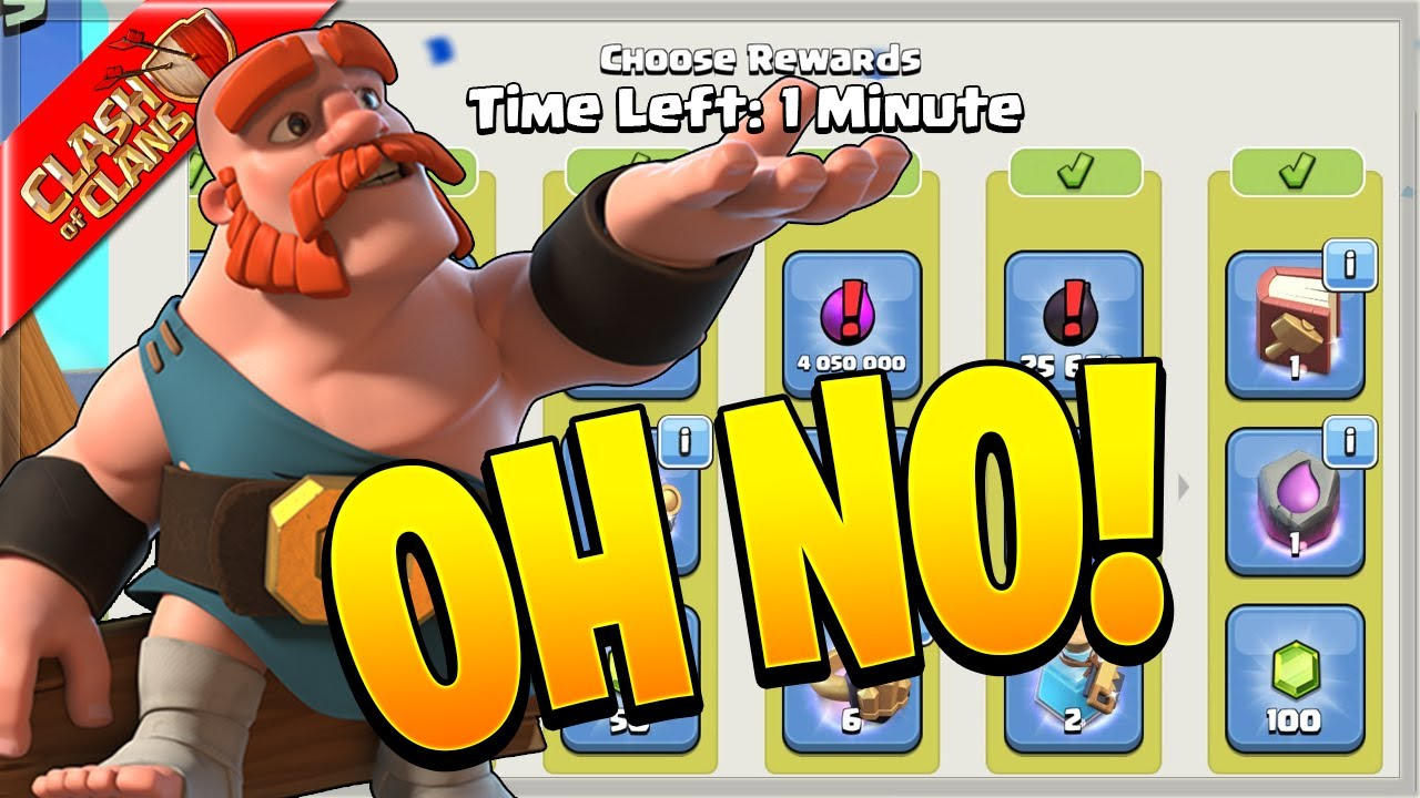 I ALMOST FORGOT MY REWARDS!! (Clash of Clans)