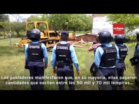 Habitantes se enfrentan a la Policía en desalojo en La Lima